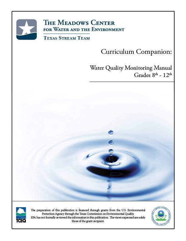Water Quality Monitoring cover